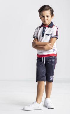 Mens Polo T Shirts, Boys Shirts, Polo Shirt, Cute Kids Fashion, Baby Boy Fashion, Boys Summer Outfits, Boy Outfits, Denim Polo, Boys Wear