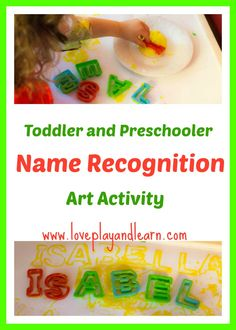 Help your child learn to recognize and spell their own name with this fun art project!