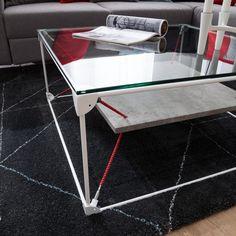 Couchtisch Ulkan - Beton Dekor / Weiß   Home24