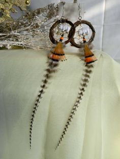 White Buffalo Dream Catcher Earrings