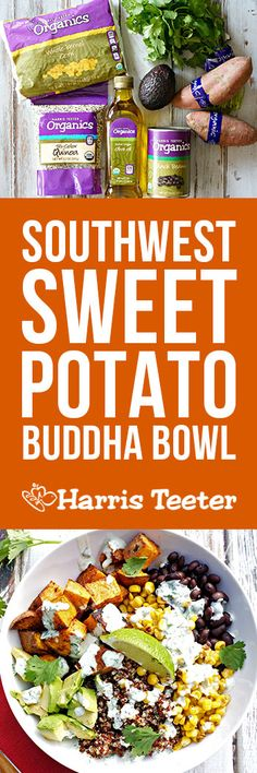 Full of color and loaded with vegetables, this Southwest Sweet Potato Buddha Bowl has all the flavors you crave from your favorite Mexican foods in one healthy bowl of goodness!