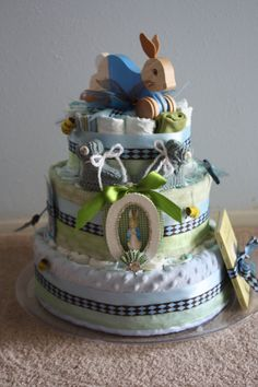 Peter Rabbit Diaper Cake, via Etsy.
