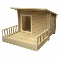 """Perfect tucked in your living room nook or nesting in the backyard, this eco-friendly dog house features a modern silhouette for handsome style.    Product: Dog houseConstruction Material: EcoFLEXColor: TanFeatures:  Eco-friendlyHolds dogs up to 40 lbsWeather resistant Removable floor and roofDimensions: 26.8"""" H x 46.9"""" W x 36.2"""" D"""