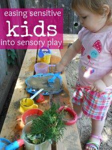 easing sensitive kids into sensory play