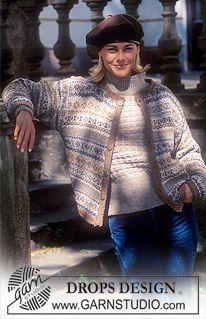 Drops 43-2 DROPS kofta i Silke-tweed med nordisk Tweed-bårder. DROPS tröja i Alaska eller Silke-Tweed med struktur. ~ DROPS Design