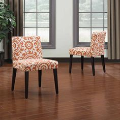 Handy Living Tait Medallion Dining Chair, Set of 2, Multiple Colors