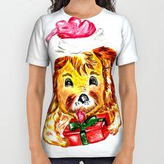 Happy Christmas dog All Over Print Shirt