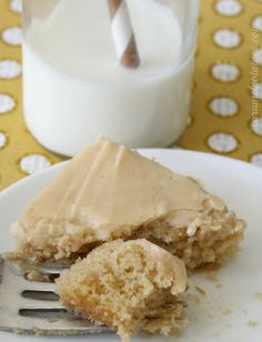 Peanut Butter Sheet Cake, with buttermilk