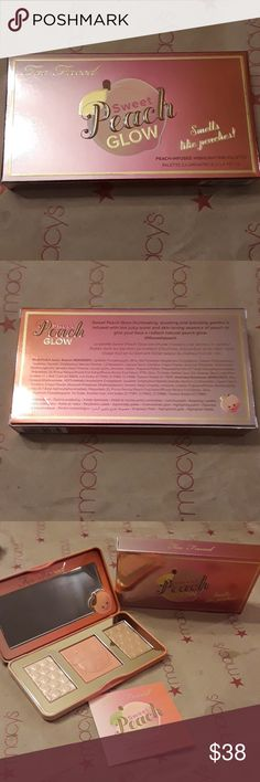 Too Faced Sweet Peach Glow A beautiful peachy sweet smelling Glow kit! BNIB authentic as always price is firm. Too Faced Makeup