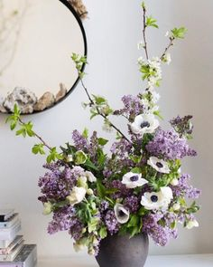 Mixed lilac centerpiece