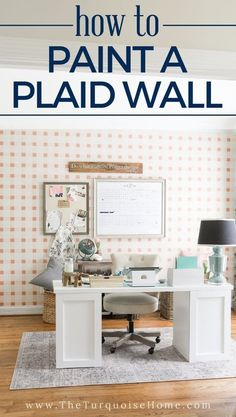 Learn how to paint a plaid wall with only a couple of measurements and no math! This beautiful feature wall takes some time to create, but the outcome is so beautiful and so worth it! Dark Paint Colors, Favorite Paint Colors, Decorating Blogs, Decorating Your Home, Diy Home Decor, Home Decor Inspiration, Decor Ideas, Diy Ideas, Room Ideas