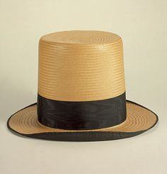 American in origin dating to 1832, Men's Straw Hat or Topper http://yeoldefashion.tumblr.com/post/6504321399/top-hats-were-a-fashion-must-for-all-respectable