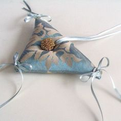 Triangle Weddings Ring Bearer Pillow Babay by MammaMiaBridal