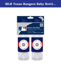 MLB Texas Rangers Baby Bottles, 2-Pack. BFBBTEXB MLB Team: Texas Rangers Features: -Silicone nipple. -BPA and phthalate free. -Dishwasher safe. -Recommended for 3 - 12 months of ages. Product Type: -Bottle Gift Sets.