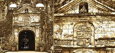 Philippines, Cebu, Fort San Pedro gate, vintage rendering  #PhiΙippines Philippines Cebu, Gate, Cathedral, Building, Travel, Vintage, Archipelago, Spanish, Viajes