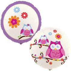 Buho con flores - globos