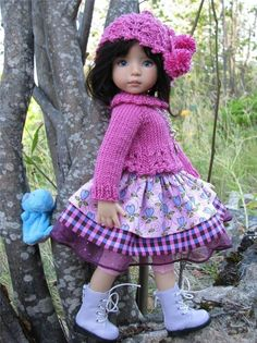 "~FUN IN FUCHSIA!~by Tuula fits Dianna Effner 13"" Little Darling to a ""t""!"