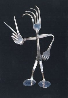 silverware art | Jody Schaible's Repurposed Silverware will be part of the Art Walk.