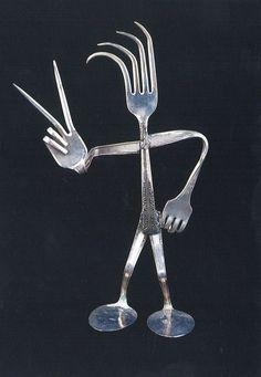 silverware art | Jody Schaible's Repurposed Silverware will be part of the Art Walk.