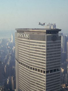 Pan Am building NYC - while the heliport was still in operation - 1960s/1970s (?). There was an accident one day, I forget when, with serious consequences & the heliport was permanently closed.