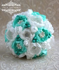 Hey, I found this really awesome Etsy listing at https://www.etsy.com/listing/222599714/brooch-bouquet-emerald-and-ivory-wedding