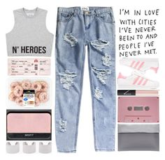 """10,000 followers!!!"" by ginga-ninja ❤ liked on Polyvore featuring CASSETTE, adidas Originals, NARS Cosmetics, OneTeaspoon and Maison Margiela"