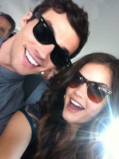 Ian Harding & Lucy Hale (Ezra & Aria from PLL) <3