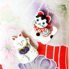 さあ~これから何になるでしょう~❔ #Japanesetraditionalcrafts #enchantedmaterial #silk #押し絵 #古布 #招き猫 #狛犬 #縁起物 #和雑貨 #あやひめ