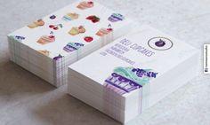 Tarjetas personales Cupcakes Repostería