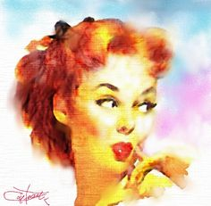 "Betty  / "" Pin up Art ""   (Vintage effect) by chrisaqua47, via Flickr"