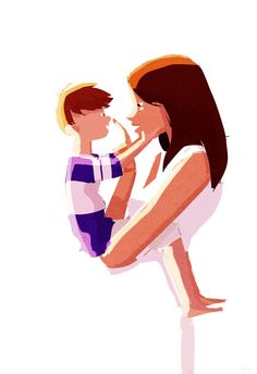 When I look at you... #pascalcampionart. _When I look at you, sometimes, I can't believe that you are MY son... that you come from me. You are so perfect, with your little nose, your little hands, and your little  tummy....you make me happy. _ Mommy, you're beautiful. _... Thank you baby. _Mommy... I broke your candle... _...... .... As I've said, sometimes I can't believe you are MY son...