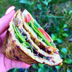 Éhezésmentes karcsúság Szafival - Vegán tortilla Salmon Burgers, Paleo, Ethnic Recipes, Free, Beach Wrap, Paleo Food