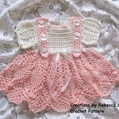 Crochet Baby Dress Pattern, Crochet Baby Clothes, Pattern Dress, Newborn Crochet Patterns, Crochet Toys, Crochet Thread Size 10, Crochet Abbreviations, Crochet For Boys, Cotton Crochet