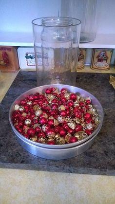 Grab mini Dollar Store ornaments & copy this woman's gorgeous idea