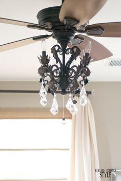 How To Install A Ceiling Fan Light Kit, Ceiling Fan Chandelier Tutorial
