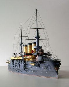 Acorazado Oslyabya 1903, hundido en la Batalla de Tsushima en 1905