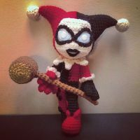 I need to make this for Bree!! Harley Quinn (Crochet) by SirPurlGrey