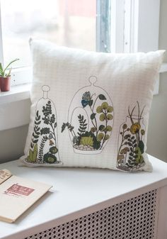 Decor on Display Pillow. You may be known for your green thumb, but today youre cultivating compliments on your decorating skills by perching this linen accent pillow on your couch! #multi #modcloth