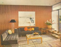 Fairchild Sofa Series; photo taken to display edwards designs as they were being sold in the 20th century