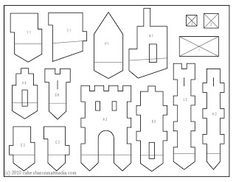 Castle template- Castle in the Attic Use tracing paper over template ...