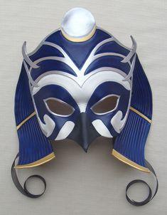Egyptian God of the Moon, Khonsu Leather Falcon Mask