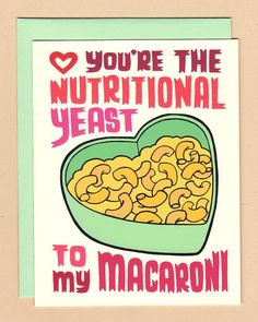 #vegan macaroni valentine by BettyTurbo on Etsy, $4.00