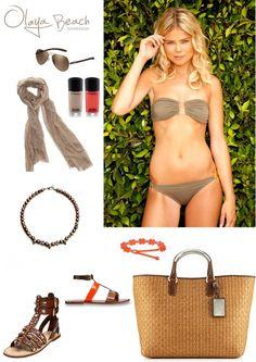How to accessorize Lipari     #swimwear #bikini #beach #sun #sunglasses #scarf #nailpolish #jewelry #bag #fun #summer #vacation # resort #cruise