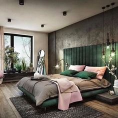 Green with envy! How gorgeous is that emerald green bed head!!  . .  #architecture #homedesign #lifestyle #style #buildingdesign #landscapedesign #conceptdesign #interiors #decorating #interiordesign