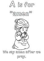 ABC church coloring book