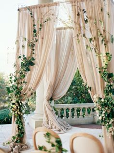 Ceremony Arbor with Ivy | photography by http://holeighvphotography.com/