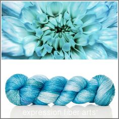 BLUE BLOSSOM SUPERWASH MERINO SILK PEARLESCENT FINGERING - Expression Fiber Arts, Inc.