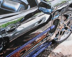 Car colored pencil- this is just amazing.