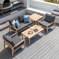 This Alexander Rose Roble 4 Seat Lounge Garden Furniture Set is fantastically priced to help you enjoy your garden this summer. Garden Furniture Sale, Oak Furniture House, Furniture Care, Sofa Furniture, Outdoor Furniture Sets, Outdoor Sofa, Outdoor Dining Set, Dining Sets, Outdoor Living