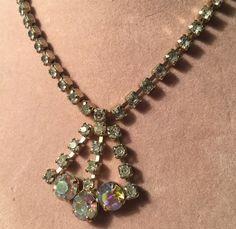 Vintage Estate Elegant Aurora Borealis Rhinestone Necklace | Jewelry & Watches, Vintage & Antique Jewelry, Costume | eBay!